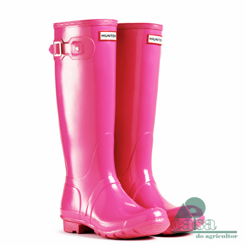 Botas Hunter Original Gloss Tall Fuchsia