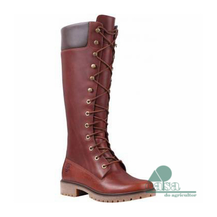 Botas Timberland 14-Inch Premium Waterproof Boot Brown Forty Leather