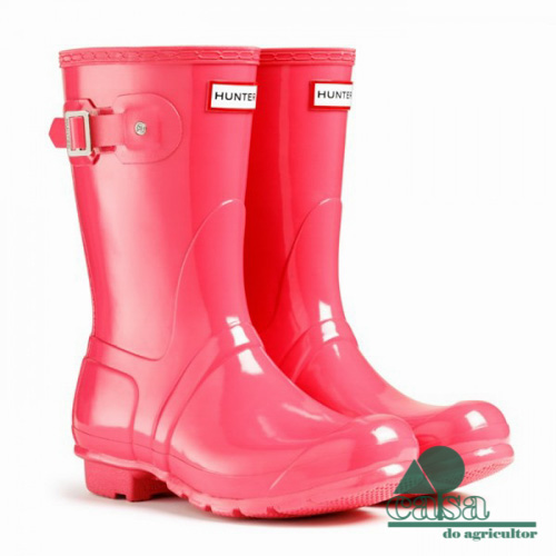 Botas Hunter Original Gloss Short Pink