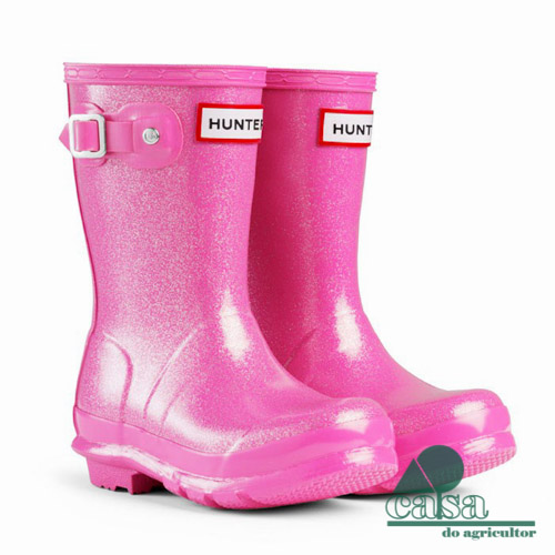 HUNTER- ORIGINAL KIDS' GLITTER FINISH- FUCHSIA
