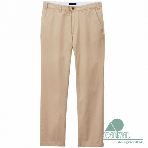 Calças Gant Maine Super Chino Putty Mid Khaki