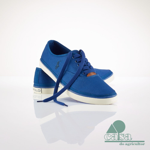 Ténis Oran Canvas Ralph Lauren Azul Real