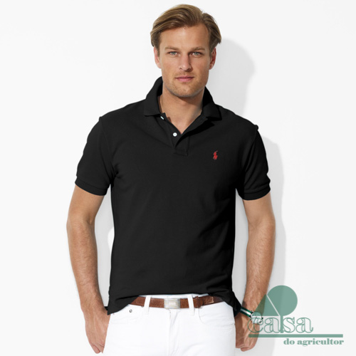 Polo Ralph Lauren Basic Custom-Fit Preto 8fd78ecbdcd