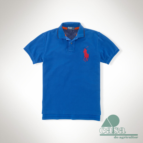 Polo Ralph Lauren Fantasia Custom-Fit Azul