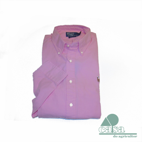 Camisa Slim-Fit Ralph Lauren Rosa