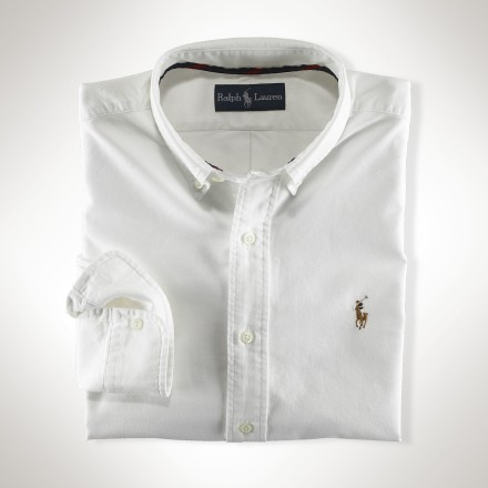 Camisa Ralph Lauren Classic-Fit Solid Oxford Branca