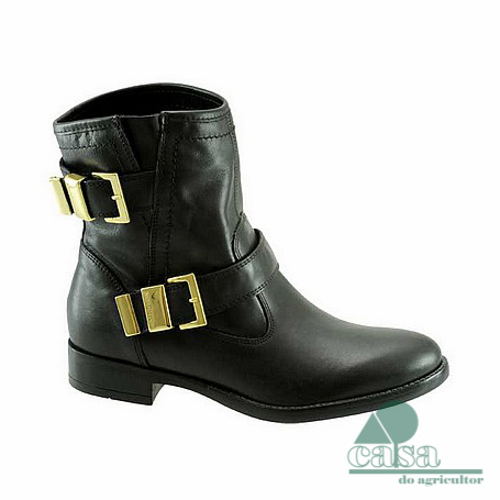 Botas Nero Giardini Women Leather Ankle Pretas