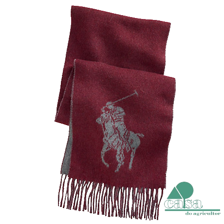 Cachecol Ralph Lauren Big Pony Bordeaux N2249-3U