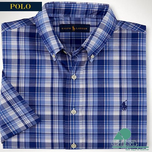 Camisa Ralph Lauren Slim-Fit Plaid Sport CMAD1/P7