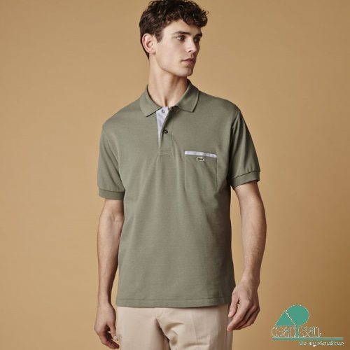 Polo Lacoste Slim Fit Castanho PH1981/8TW