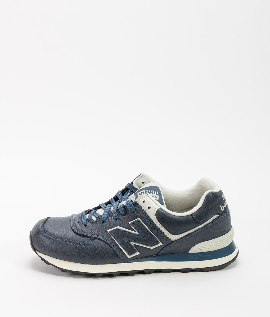 New Balance 574 Leather Stone Blue